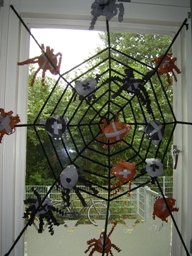 Halloween Spin Knutselen.Jufjanneke Nl Herfst In De Klas