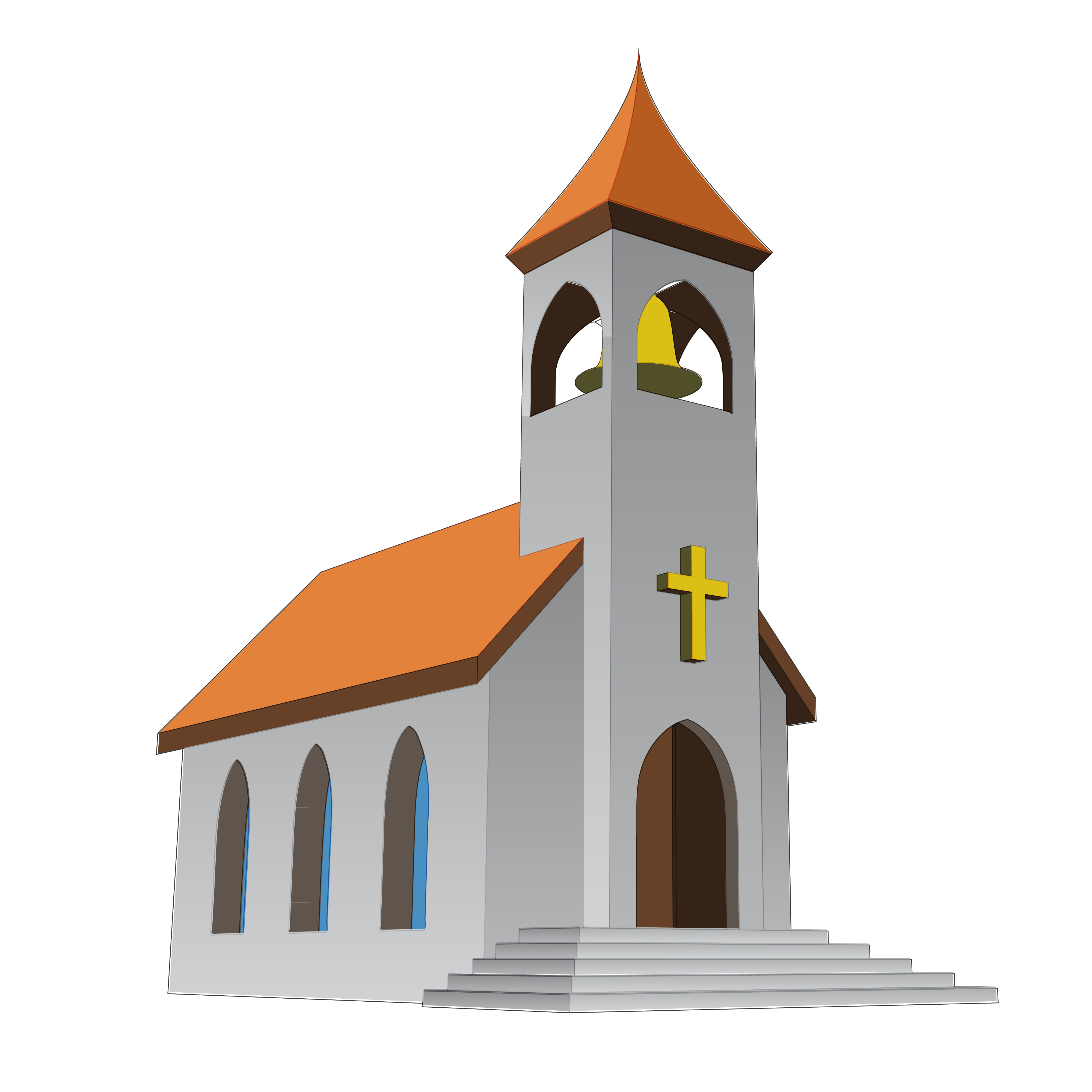 Kerk en kleuters - Eglise dessin ...